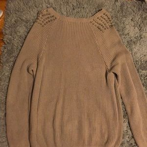 Forever 21 Sweaters - Forever 21 beige studded sweater
